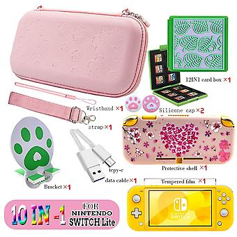 Portable Storage Bag, Switch Travel, Carrying Cherry Blossoms Case