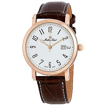 Mathey-Tissot City White Dial Brown Leather Men's Watch H611251PG