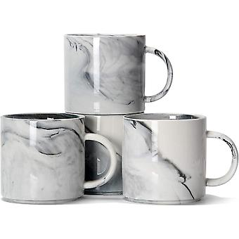 12 oz / 320ml Stackable Coffee Mugs, DZK M101 Novelty Marble Ceramic Cup for Boy Girl Lover, Set of