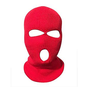 Ski Mask Knitted Face Cover, Winter Balaclava, Full Face For Winter, Outdoor