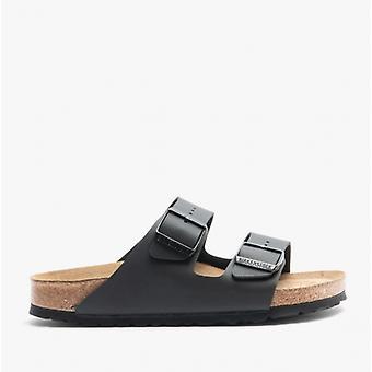 Birkenstock Arizona Sfb 551253 (nar) Ladies Birko-flor Two Strap Sandals Black