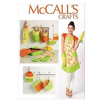 McCalls Schnittmuster 6978 Schürze & Küche Zubehör Größe S-L Uncut