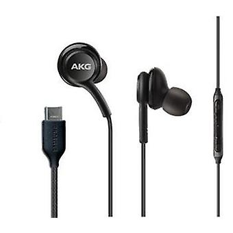 Original AKG EO-IG955 Headset InEar Headphones with USB-C Black for Galaxy S20 /+ Ultra, Note 20 10, S10 +/e, S9 / S9+ S8