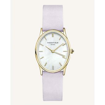 Reloj de mujer OWLLG-OV04 THE OVAL Rosefield Watches - Pulsera de cuero violeta