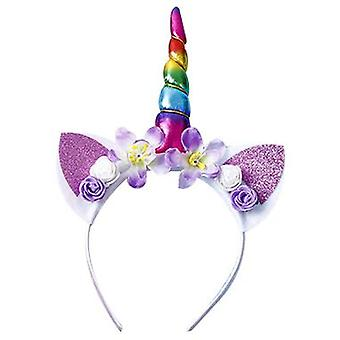 Dream Unicorn Flower Hair Hoop Children's Cadeau d'anniversaire