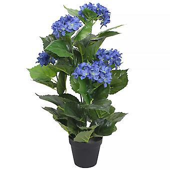 vidaXL Keinotekoinen hydrangea potilla 60 cm sininen