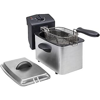 Edelstahl Fritteuse - mit 2 Liter Fassungsvermgen, Kaltzonefunktion und einstellbarem Thermostat bis