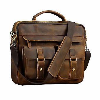 Miesten laatu nahka business salkku, kannettava laukku