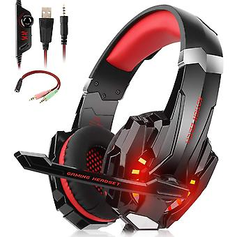 FengChun Stereo Gaming Headset mit Mikrofon für PS4 Xbox One PC Mac, Over-Ear-Kopfhörer mit Mikrofon