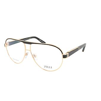 ZILLI glasögon Ram Titanacetat Läder Frankrike Tillverkad ZI 60045 C01