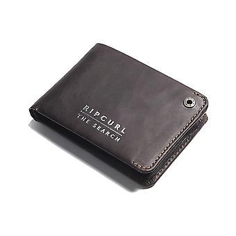 Rip Curl Supply RFID Slim Leather Wallet in Brown
