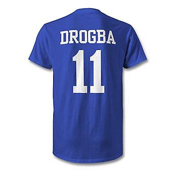 T-shirt eroe per bambini leggenda del Chelsea Didier Drogba