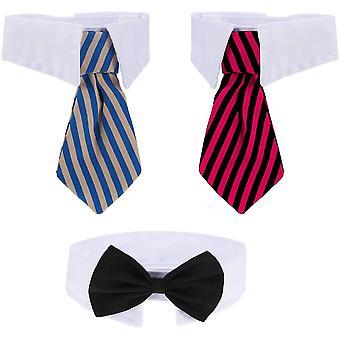 3 Stücke Justierbare Haustier Hunde Katzen Fliege Haustier Kostüm Krawatte Kragen für Kleine Hunde