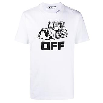 Off White Caterpillar Logo White T-Shirt