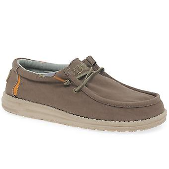 Hey Dude Wally Washed Mens Canvas Shoes