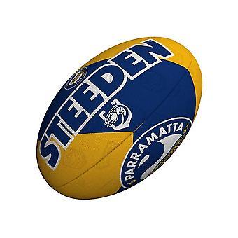 Steeden NRL פאראמטה אילס תומך 2021 רוגבי ליגת כדור צהוב / כחול