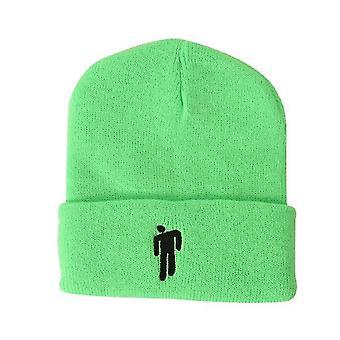 Zelená vhodná pre jesenné a zimné pletené klobúky hatswoolen hatseuropean a americkí muži x2874