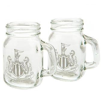 Newcastle United FC Mason Purkki Shot Glass (Pakkaus 2)