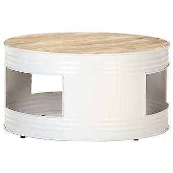 Couchtisch 68X68X36 Cm Solid Mango Holz Weiß