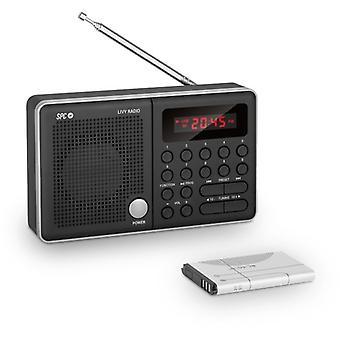 Transistor Radio Ultimate Design AM/FM Tunier 600 mAh Schwarz