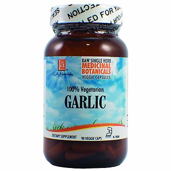 L. A .Naturals Garlic Raw Herb, 90 Veg Caps