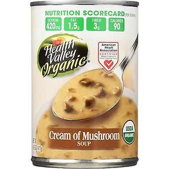 Health Valley Soup Crm Of Mushroom, Case of 12 X 14.5 Oz
