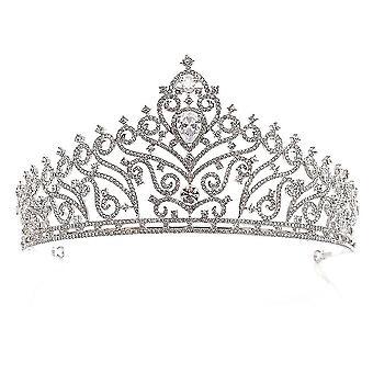 Morsian Tiaras Crown Barokki Seos Tekojalokivi Inlaid Zircon Crown