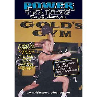 Entraînement de puissance pour les arts martiaux Dvd Golds Gym -Vd7054A