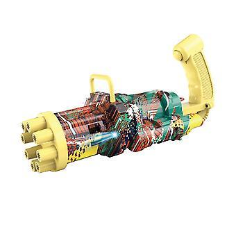 Elektrische Blasenmaschine Acht Loch Riesige Menge Automatische Blasen Maschinengewehr Spielzeug Junge Blasen