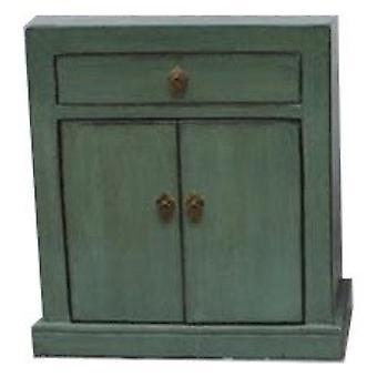 Fin Asianliving Antikk Kinesisk Skap Glassy Mint Grønn W62xD37xH70cm