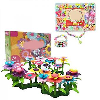 Diy Handmade Flower Arrangement Toys(98 PCS And Beads)
