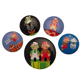 Super Mario Button Badge Set Retro