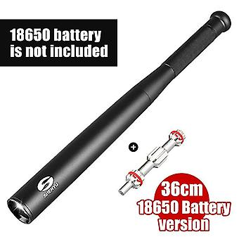 Self defense security flashlight stick outdoors emergency personal torch supplies extended baseball baton anti riot equipments