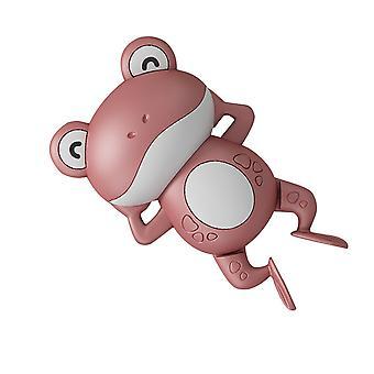 Vauva uinti söpö sarjakuva eläin sammakot kellokoneisto kylpy lelu