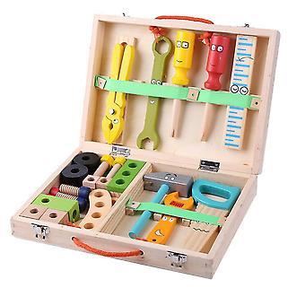 Set di gioco finto della cassetta degli attrezzi in legno