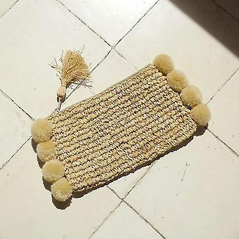 Ručně tkaná slámová spojka Raffia
