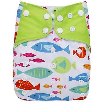 Waterproof Digital Printed Baby Cloth Diaper Adjustable Baby Nappies