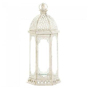 galleri av lys vintage-utseende fortvilet stearinlys lykt - 20 inches, pakke med 1