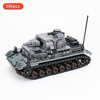 Army Legion Figures Military World War II Germany IV Tank Weapon Soldier Building Blocks Toys Gift