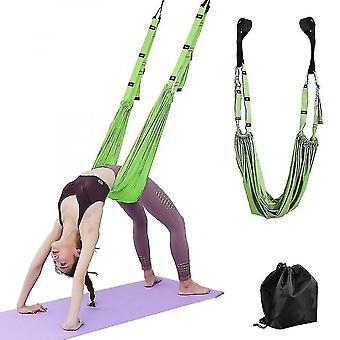 Exercise bands adjustable stretching yoga belt green