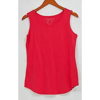 Susan Graver Women's Top Essentials Algodón Modal Scoop Cuello Rojo A265027