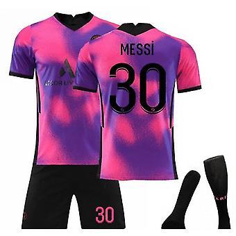 Messi #30 Jersey 2021-2022 New Season Paris Soccer T-shirts Jersey Set For Kids Youths