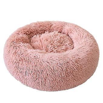 Pes a kočka koš mat round plyšové zimní lůžko velké štěně a kotě pet mat, vnější průměr 60cm, výška cca 20cm, hmotnost 0.75kg (včetně vlasů L