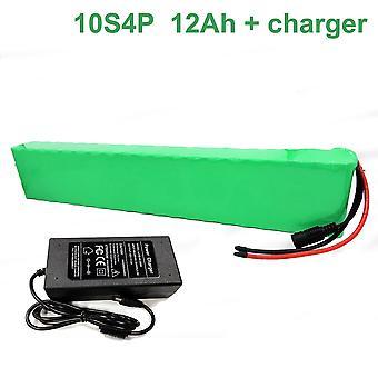Batterij met oplader 12ah 36v 42v Li-ion 18650 oplaadbare elektrische fiets E-bike Ebike Accepteren Aanpassing 10s4p 47 * 67 * 370mm