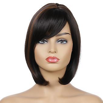 Pelucas de centro comercial de la marca, pelucas de encaje, pelucas realistas de pelo corto oblicuo de pelo corto