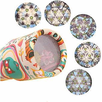 6Er Pack Kaleidoskop Magic Kaleidoskop Kit Drehbare Brille Klassische Dose Kaleidoskop Spielzeug Party Set Prisma Teleskop Puzzle Zufällige Lieferung