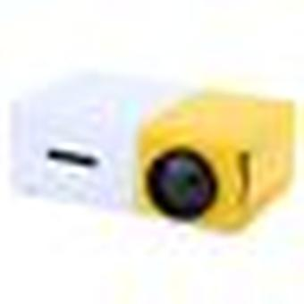 Mini Portable Lcd Projector-multimedia Player-yellow And White