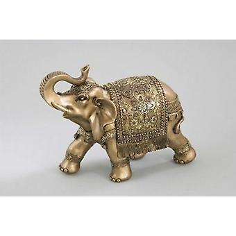 Elephant Ornament Figurine Gift Idea Gold