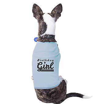 هدايا عيد ميلاد فتاة الكلب صغيرة زرقاء قميص القطن مضحكة للكلاب