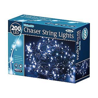 200 LED valkoinen Chaser Sisäuima ulkotarha pikkujouluissa String valot